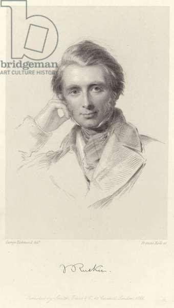 Portrait of John Ruskin (engraving)
