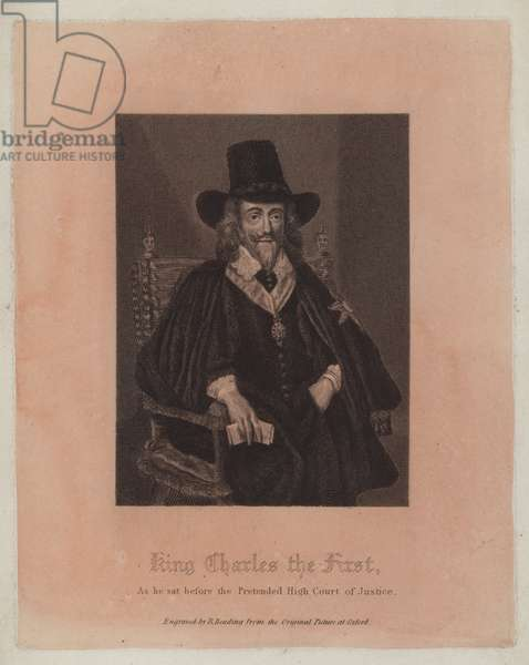 King Charles the First, as he sat before the Pretended High Court of Justice (engraving)