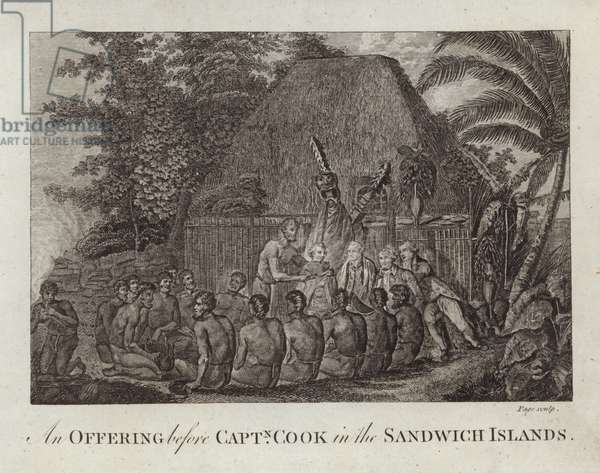 An Offering before Captain Cook (engraving)