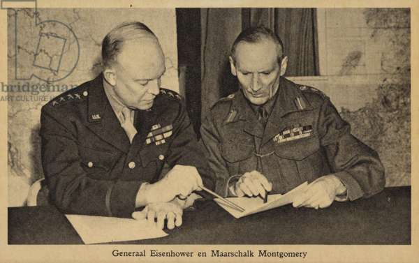General Eisenhower and Field Marshal Montgomery (b/w photo)