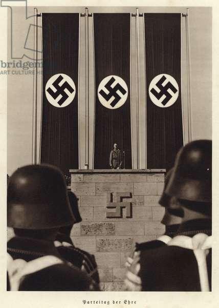 Rally of Honour, Nuremberg, 1936 (b/w photo)