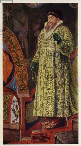 Ivan the Terrible, Tsar of Russia, 1897 (colour litho)
