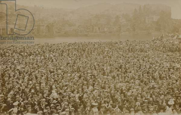 ILP meeting (pre Labour Party) at Belle Vue Gardens, Manchester, 1906 (?) (b/w photo)