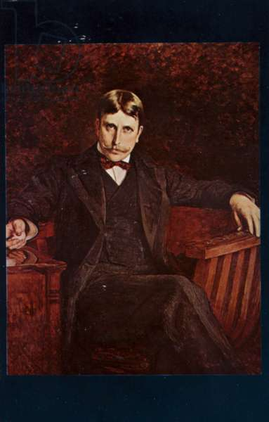William Randolph Hearst (1863-1951), American newspaper publisher, 1894 (colour litho)
