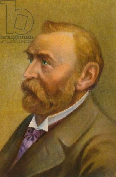 Alfred Nobel (colour litho)