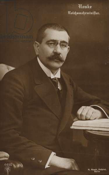 Gustav Noske (b/w photo)
