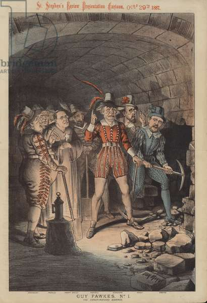 Guy Fawkes, No 1: the Conspirators Armed (colour litho)