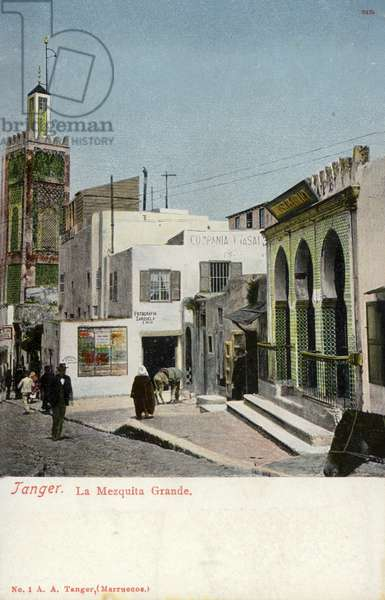 Grand Mosque, Tangier (coloured photo)