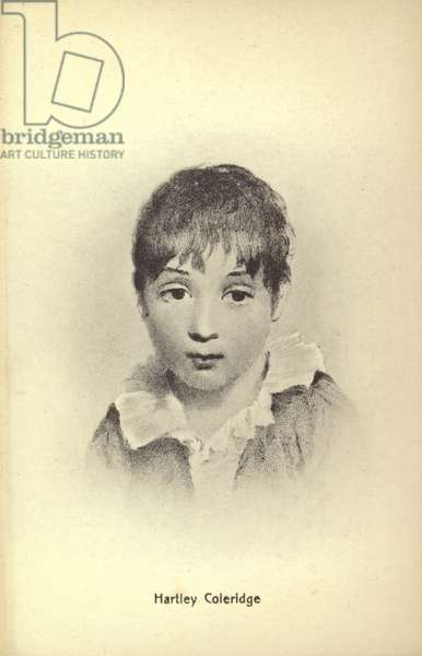 Hartley Coleridge (1796-1849), English poet, essayist and biographer (litho)