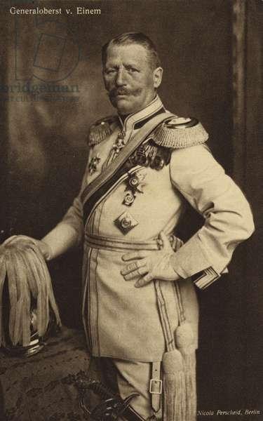 General von Einem (b/w photo)