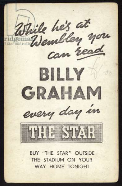 Billy Graham ad for The Star (litho)