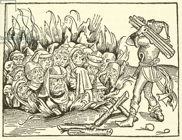 Massacre of Jews, 1493 (woodcut)