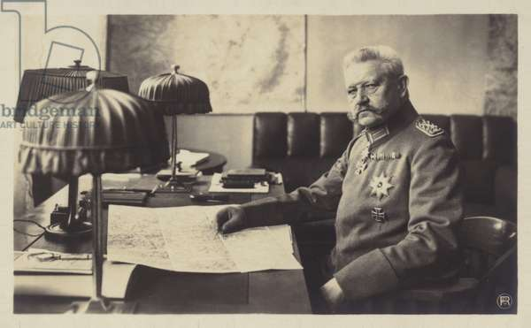 Paul von Hindenburg (b/w photo)