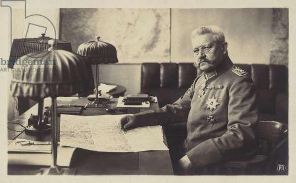 Paul von Hindenburg (b/w photo)