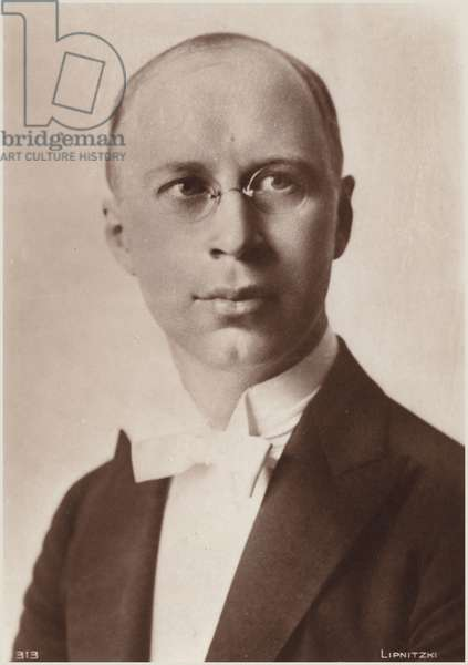 Portrait of Sergei Prokofiev (b/w photo)