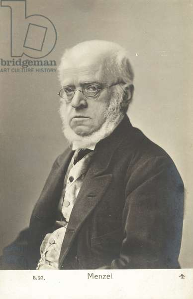 Adolph Menzel (b/w photo)