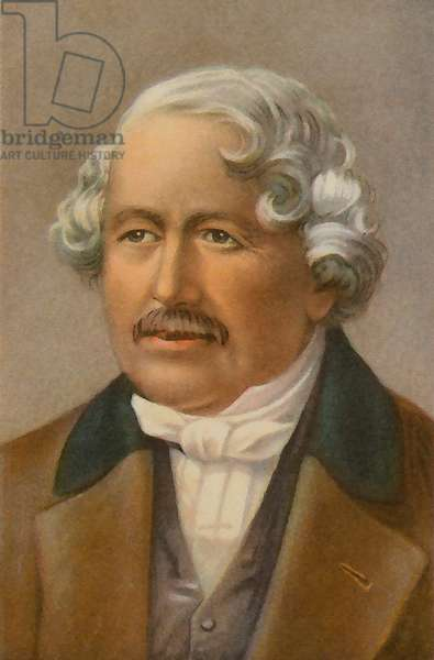 Louis Daguerre (colour litho)