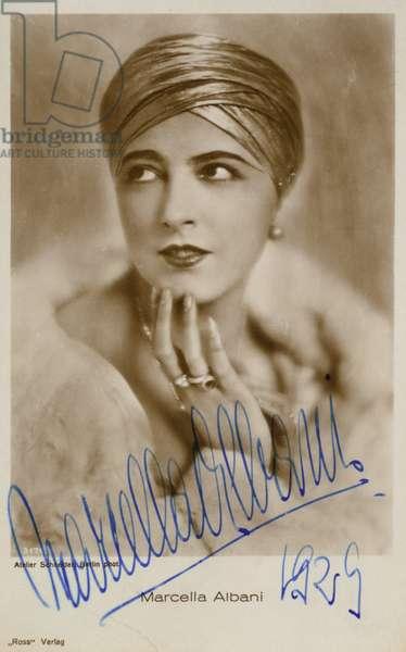 Marcella Albani (b/w photo)
