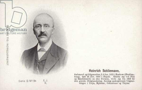 Heinrich Schliemann (1822-1890), German archaeologist (b/w photo)