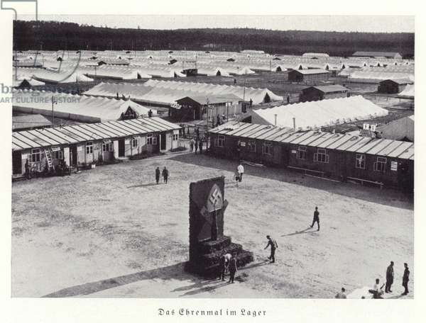 Cenotaph in camp, Nuremberg, 1936 (b/w photo)