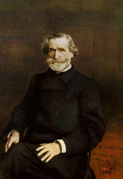 Portrait of Giuseppe Verdi (colour litho)