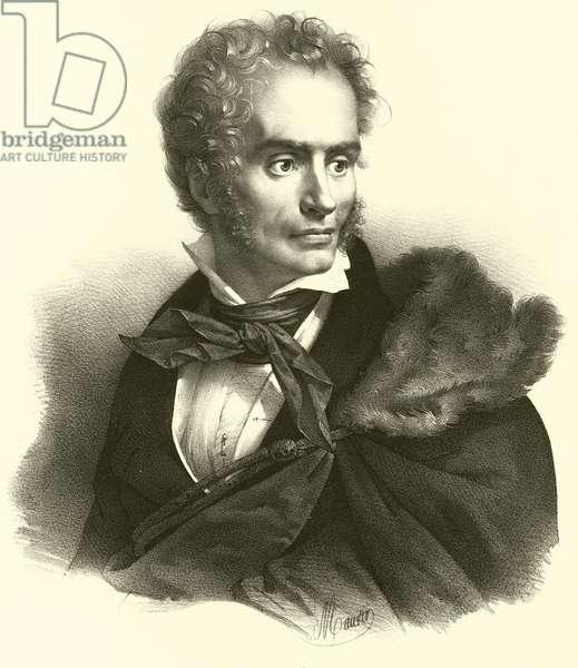 Anne-Louis Girodet de Roussy-Trioson, portrait (engraving)