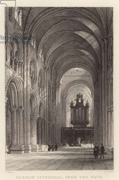 Durham Cathedral, from the Nave (engraving)