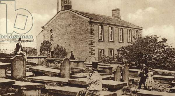 Haworth Parsonage in the days of the Brontes (b/w photo)