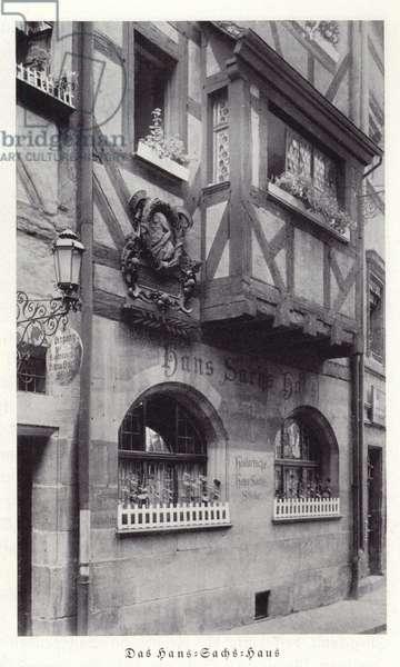 Hans Sachs Haus, Nuremberg (b/w photo)