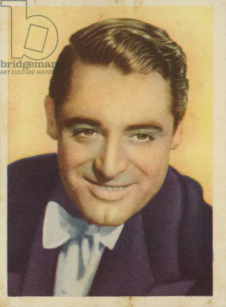 Cary Grant, English actor and film star (coloured photo)
