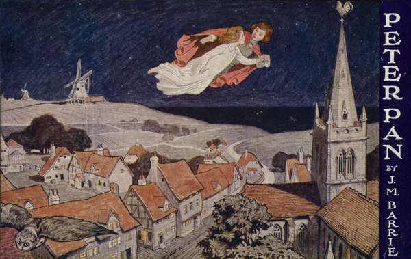 Peter Pan, by J M Barrie (colour litho)