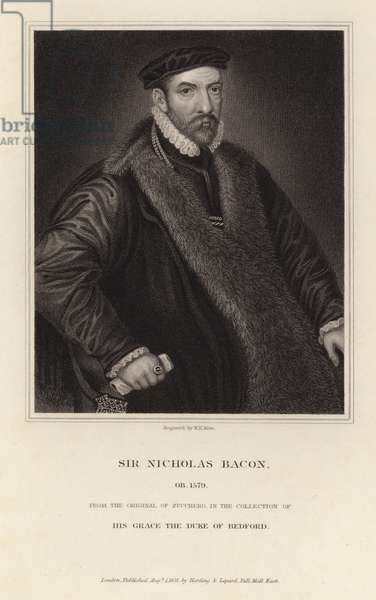 Portrait of Sir Nicholas Bacon (engraving)