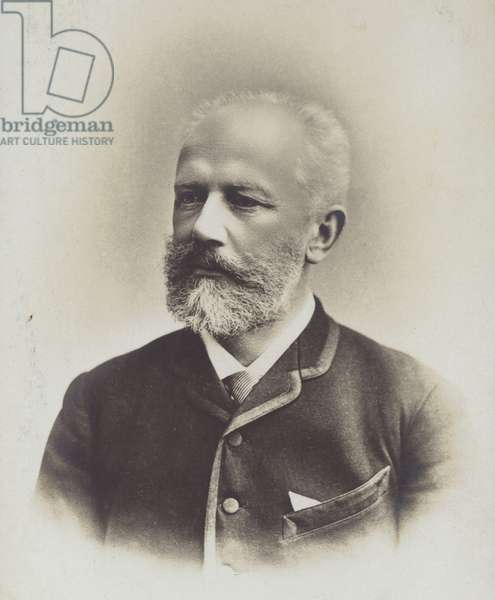 Portrait of Pyotr Ilyich Tchaikovsky (b/w photo)