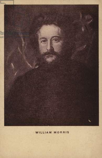 William Morris (1834-1896), English textile designer, artist and writer (litho)