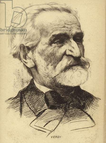 Portrait of Giuseppe Verdi (engraving)