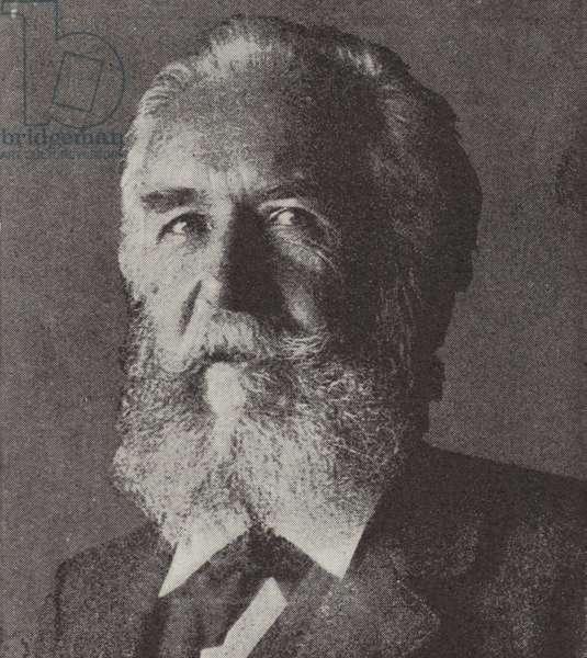 Ernst Haeckel, German biologist (b/w photo)