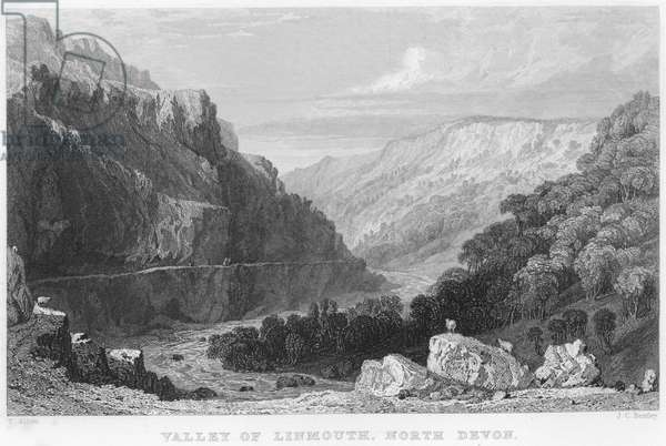 Valley of Linmouth, North Devon (engraving)