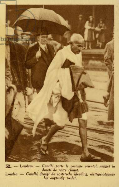 Mahatma Gandhi (sepia photo)