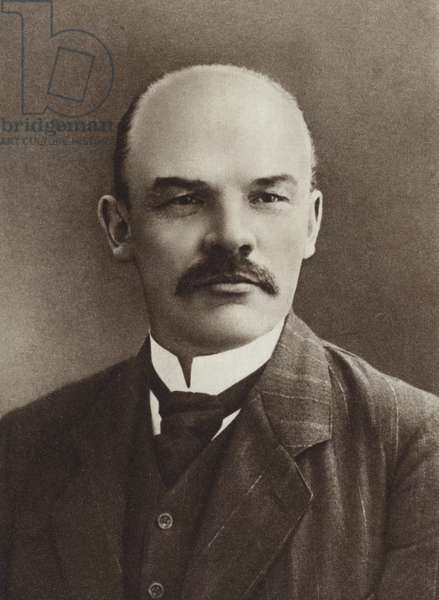 Lenin, Paris, 1910 (b/w photo)