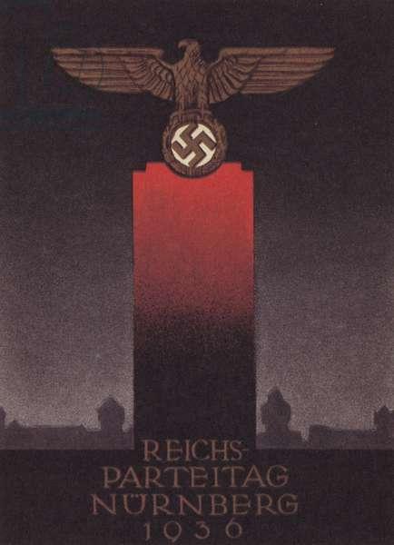 Nuremberg Rally, 1936 (colour litho)