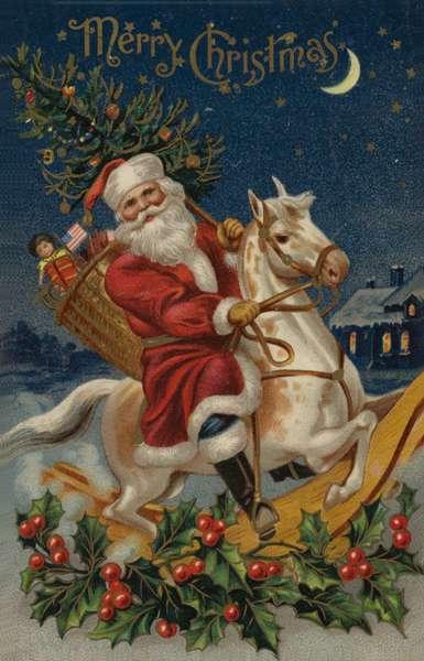 Christmas card (colour litho)