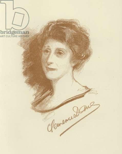 Clemence Dane, English novelist and playwright (litho)