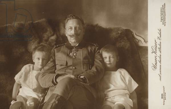 Kaiser Wilhelm II (b/w photo)