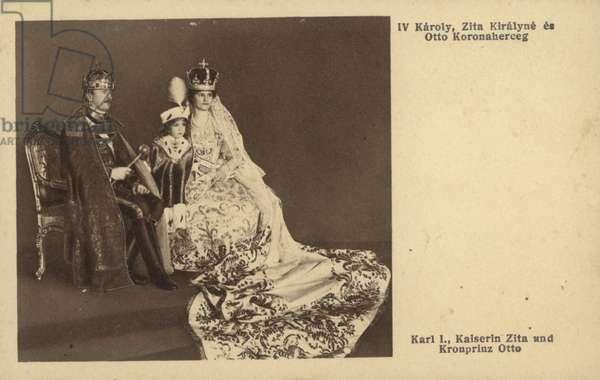 Austrian Imperial Family (b/w photo)