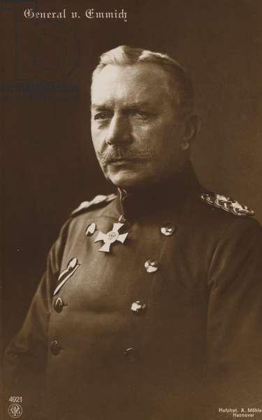 General von Emmich (b/w photo)