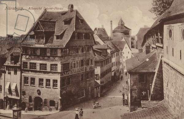 Postcard depicting the Albrecht Durer-Haus (b/w photo)