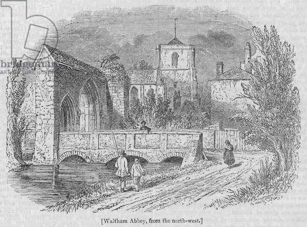 Waltham Abbey, from the north-west (engraving)