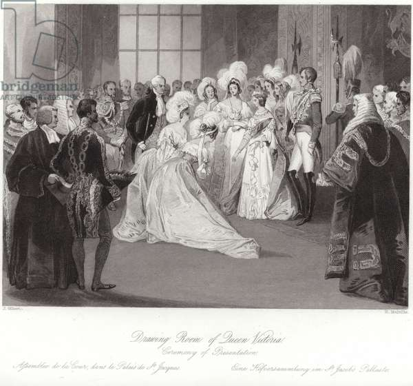 Drawing room of Queen Victoria (engraving)