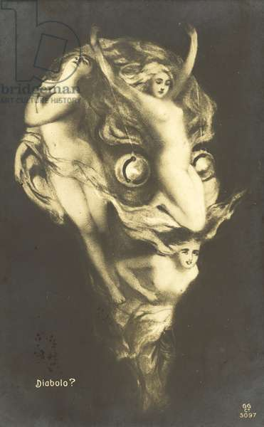 Arcimboldo portrait of Mephistopheles (litho)