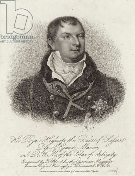 Prince Augustus Frederick, Duke of Sussex (engraving)